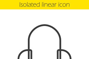 Headphones icon. Vector