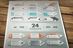 Infographic Arrows Set