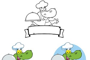 Chef Crocodile Banners Collection