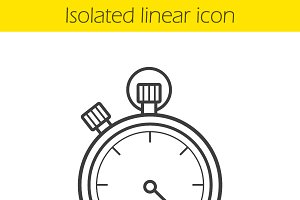 Stopwatch icon. Vector