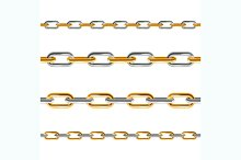 Chain Line Set. Vector