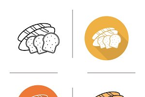 Bread icons. Vector