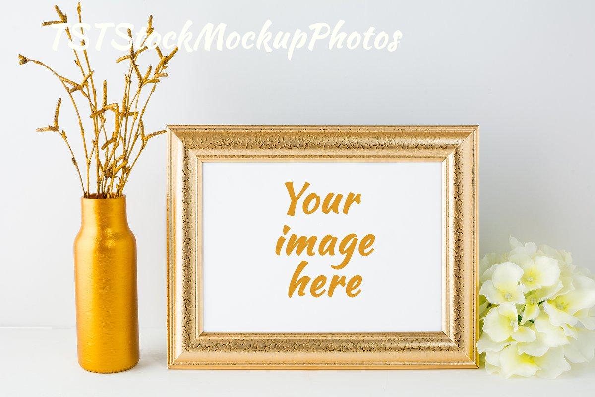 39751a6899bf Landscape gold frame mockup ~ Print Mockups ~ Creative Market