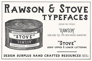Rawson & Stove Typefaces