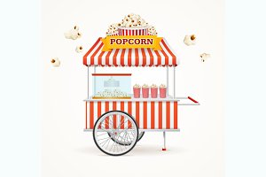 Pop Corn Street Vendor Mobile Store
