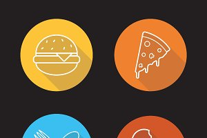 Food icons. Vector