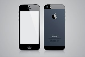 iPhone 5 vector illustration