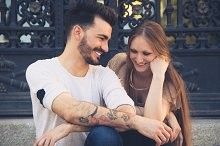 Beautiful young couple laughing