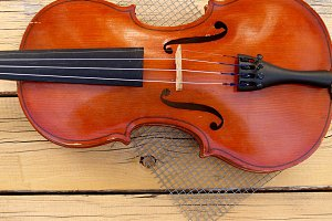 violin lying