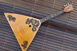 russian balalaika on blind