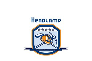 Headlamp Miner Workers Union Logo