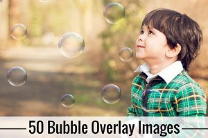 50 Bubble Overlay Photoshop Overlays