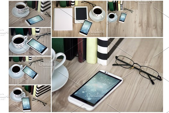 Android Smartphone,7 PSD Mock-Ups