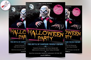 Halloween Party Flyer Template 1