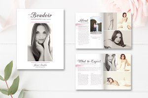 8 Page Boudoir Photography Magazine