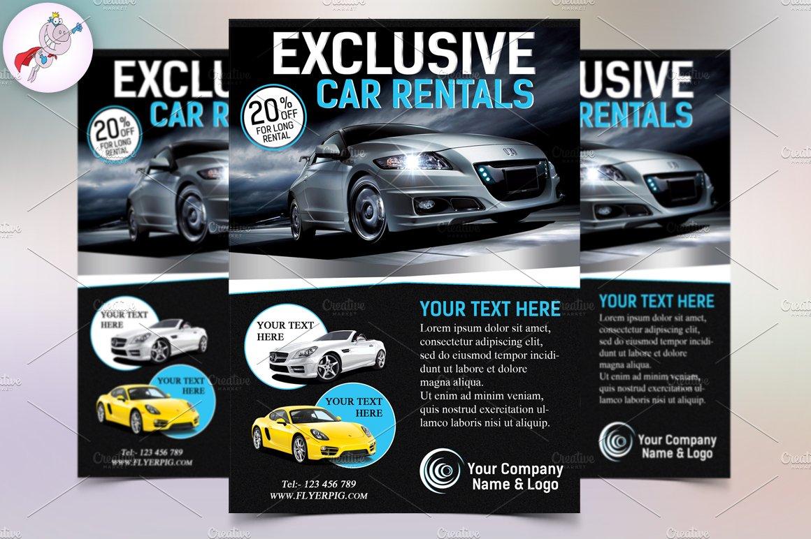 Exclusive Car Rental Flyer Template Flyer Templates Creative Market