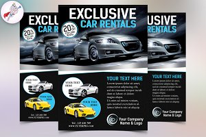 Exclusive Car Rental Flyer Template