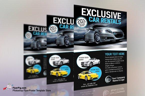 Exclusive Car Rental Flyer Template Flyer Templates Creative Market