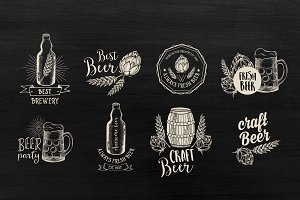 16 Beer logos & labels