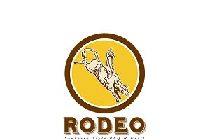 Rodeo Talk Bar and Grill, Logo, rode