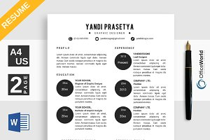 Baller Simple Resume / CV Ms Word