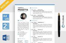 Clean Simple Resume / CV Ms Word