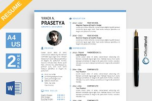 minimalist resume cv ms word resume templates creative market