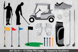 Sports - Golfing Illustrations