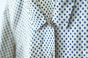 Ladies polka dot shirt, blouse