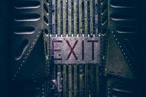 Exit Floor Sign