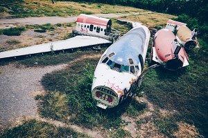 Abandoned Airplane Yard