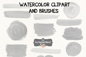 Vector Watercolor clipart/brush