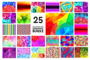 25 BACKGROUND GRAPHIC BUNDLE