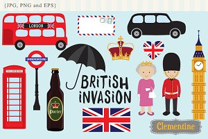 British Invasion clip art