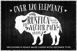 Rustica Vector Pack Vol. 2 + 8 Logos