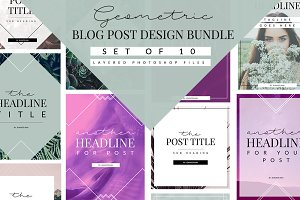 Geometric Blog Template Bundle