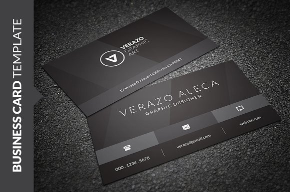 Stylish black business card business card templates creative market colourmoves