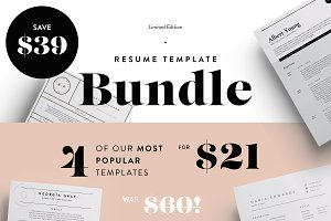 Most Popular Resume's Bundle! | SALE