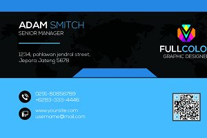 Blue Modern Business Card