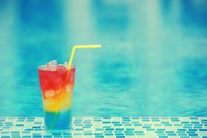 Colourful cocktail
