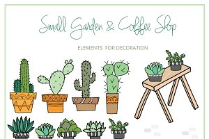 Small Garden & Coffee Shop Color Set
