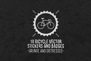 Bicycle Vector Stickers and Badges