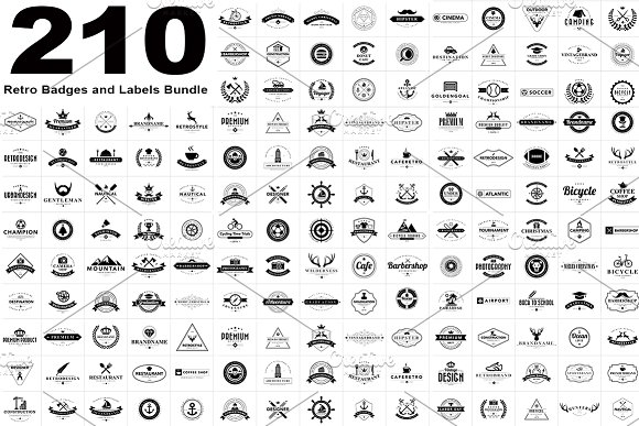 210 Vintage Bades and Labels.EPS10 - Logos