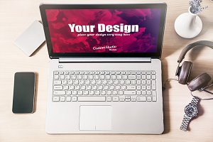 Laptop PSD Mockup, Workspace