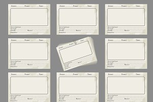 Storyboard template in retro style