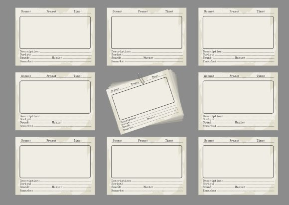 Storyboard template in retro style ~ Graphics ~ Creative Market