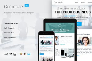 9 Corporate Email Bundle + Builder