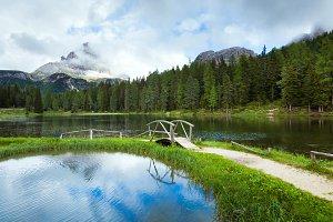 Alpine lake lago di Antorno