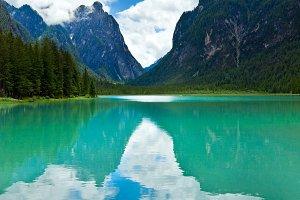 Alpine lake Toblach