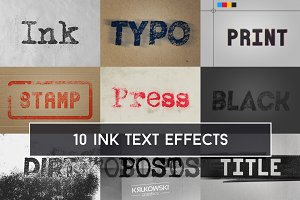 Ink Text Effect